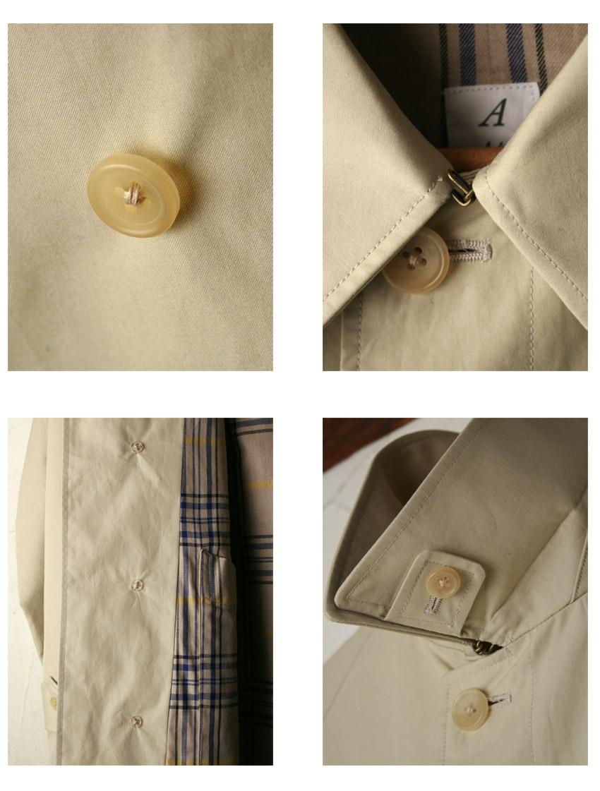 정규 판매점 Made in Japan 아나트미카 SINGLE RAGLAN COAT 싱글 러글랜 코트 스텐 칼라 코트 Ventile 벤 타일전 2색z3x