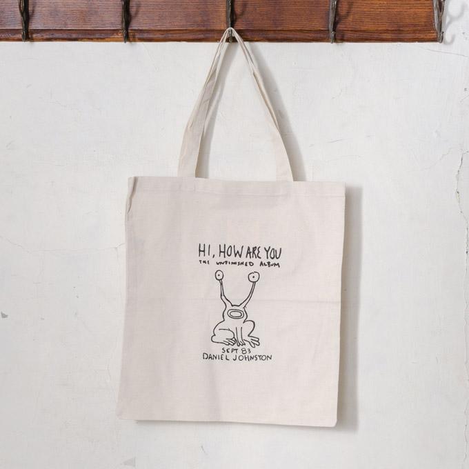 As Worn By Kurt Cobain Hi How Are You Daniel Johnston Cotton Shopping Tote Bag