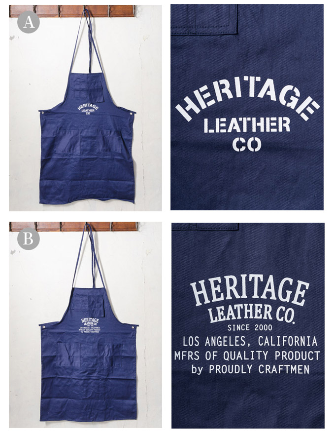 Made In USA ヘリテージレザー ヘリテイジレザー 5 Pocket Machinist Apron 5 포켓 앞치마 NAVY 2 본 ▽ △ z10x [유 패킷에 대응]