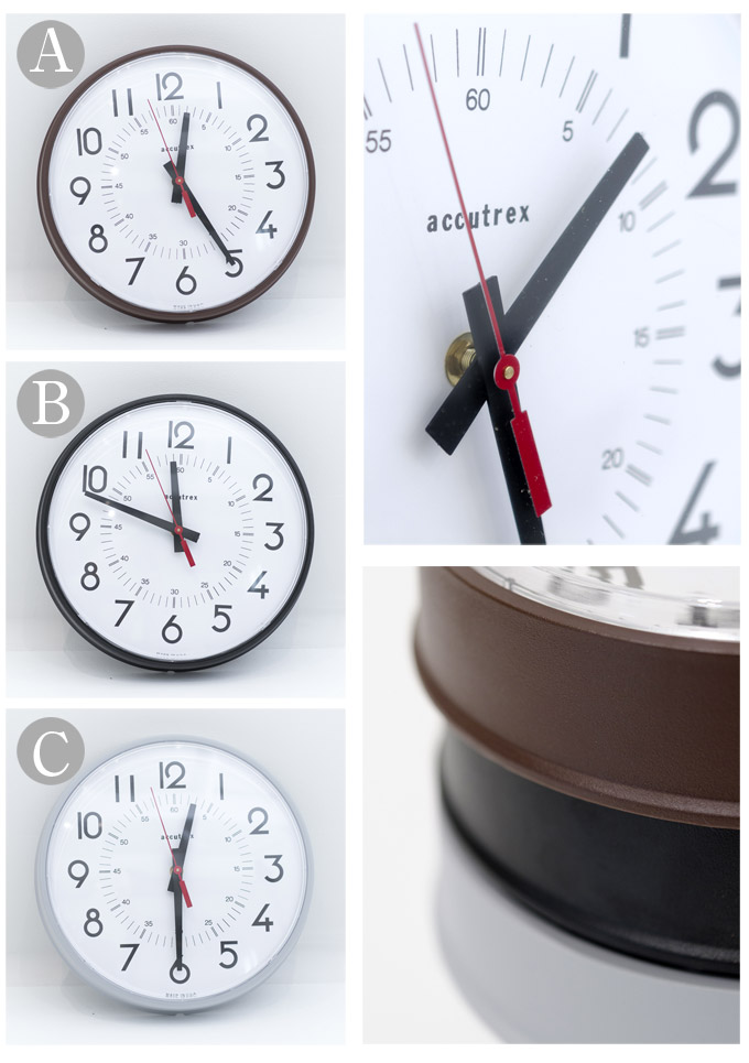 "Made in USA 프랭클린 악기 회사 ACCUTREX アーキュトレックス 8 ""wall clock 8 인치 벽 시계 B 본 전 3 색 ◇ ◇"