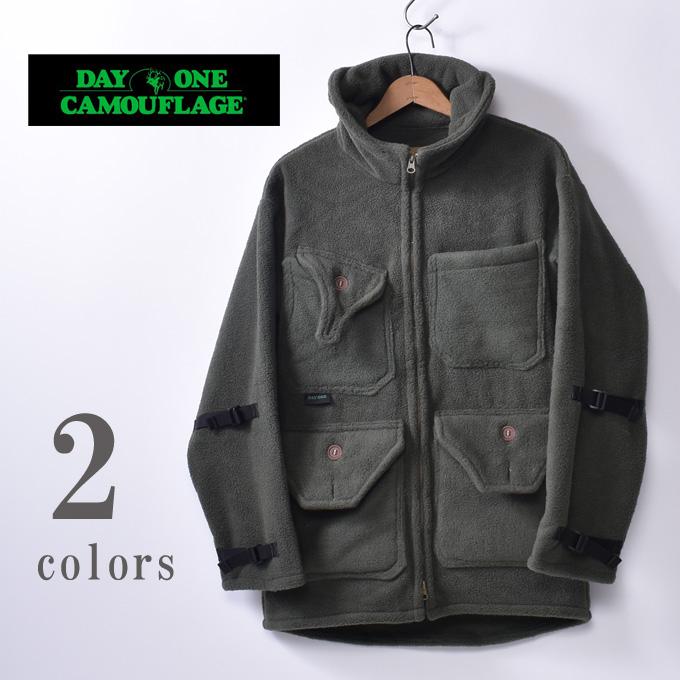 【DAY ONE CAMOUFLAGE】デイワンカモフラージュHunting Fleece Jacketハンティングフリースジャケット全2色(Cactus・Black)