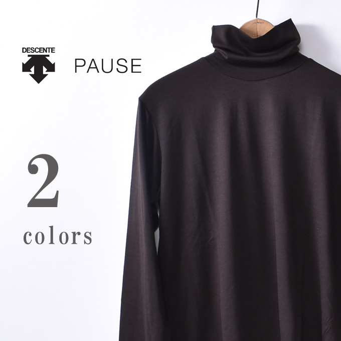 【DESCENTE PAUSE】デサント ポーズMERINO WOOL TURTLE(DLMMJB52A)メリノウールタートル全2色
