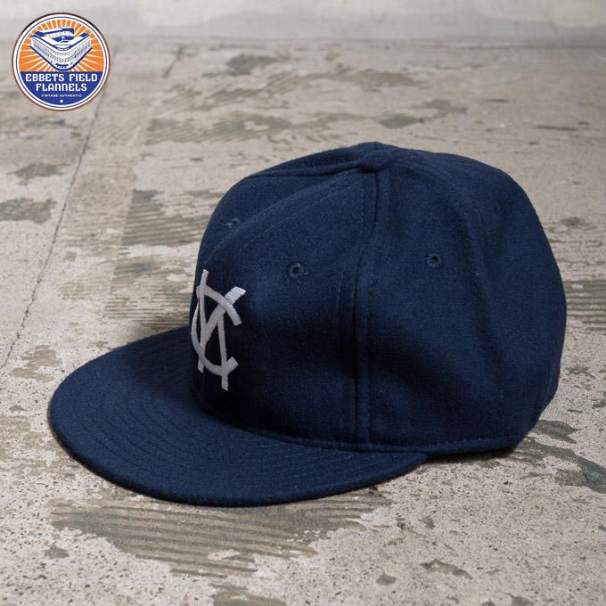 e10547b703d57 cott  Ebbets Field flannel WOOL BASEBALL wool baseball cap Kansas ...