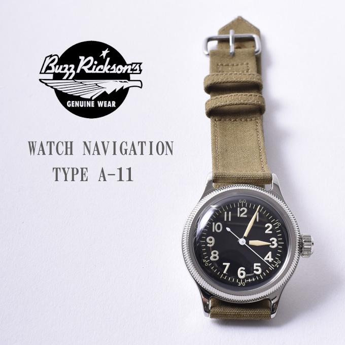 【BUZZRICKSON'S】バズリクソンズWATCH NAVIGATION TYPE A-11(BR02613 149OLV)オリーブアメリカ軍 ミリタリーウォッチ