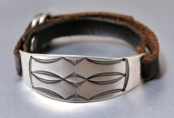 【JACK WALKER】ジャックウォーカーsilver & leather bracelet #02シルバーブレスレット