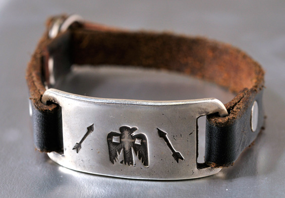【JACK WALKER】ジャックウォーカーsilver & leather bracelet #01シルバーブレスレット