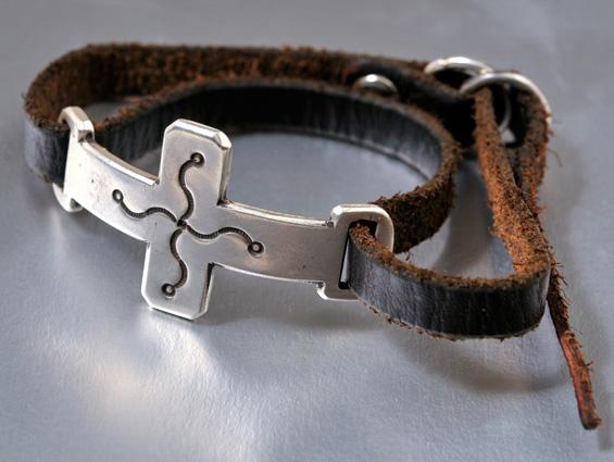【JACK WALKER】ジャックウォーカーsilver & leather bracelet #03シルバーブレスレット