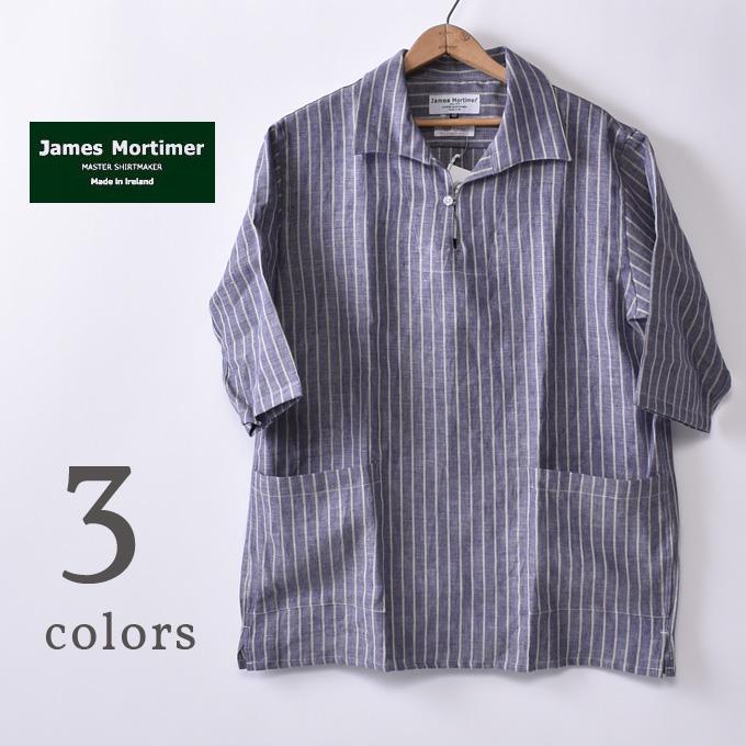 【James Mortimer】ジェームスモルティマーHalf Sleeve Smock ハーフスリーブスモックIRISH LINEN アイリッシュリネン 麻全3色