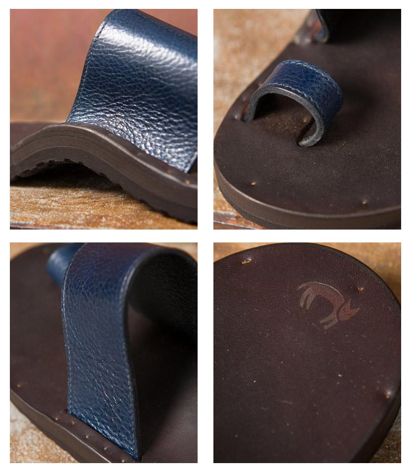 Made In USA ユッタ 뉴 ALICE/BIRKENSTOCK SOLE 앨리스/비르 켄 슈 특 크 솔 라운드 타입 가죽 샌들 Old Fashion Calf Leather 옛날식 송아지 가죽 Ocean SH (네이 비)