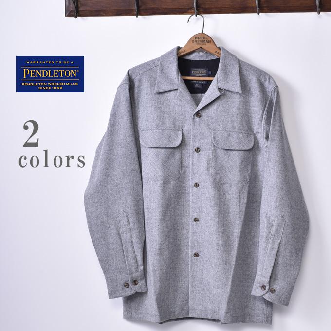 正規品【PENDLETON】ペンドルトンTHE ORIGINAL BOARD SHIRT CLASSIC FITオリジナルボードシャツ クラシックフィット全2色(GREY MIX・BLACK)《S-40》