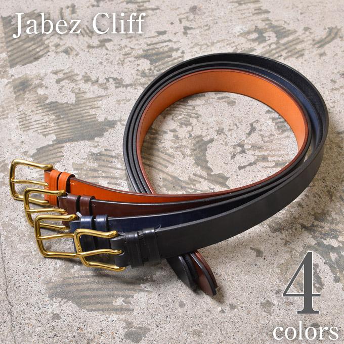 ★20%OFF SALE!【Jabez Cliff】ジャベツクリフ38mm SADLE LEATHER BELT(レザーベルト)全4色