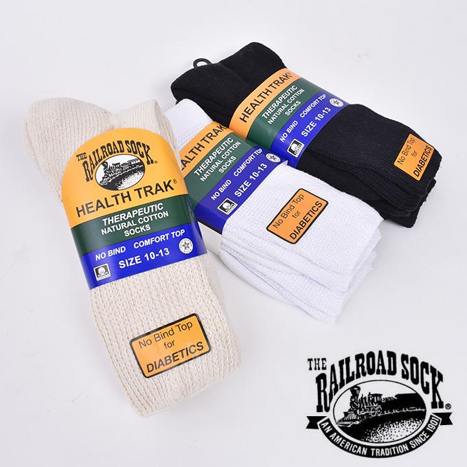 Made 男女兼用 本物 in USA RAILROAD SOCK レイルロードソックスHEALTH TRAK THERAPEUTIC GRAY SOCKS NATURAL NAVY BLACK 2足セット 靴下全5色 WHITE