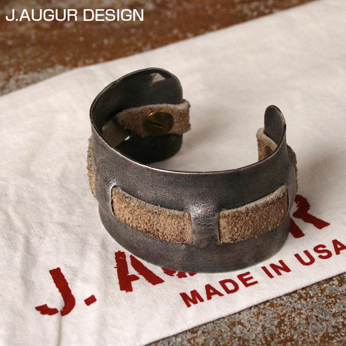 【J.AUGUR DESIGN】ジュディ・オーガー デザインSilver With Vintage Leather Brace シルバーブレスレット