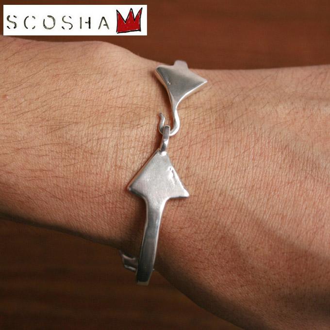 【SCOSHA】スコーシャMB84 Double Arrow BraceletダブルアローブレスレットSILVER シルバー《S-40》