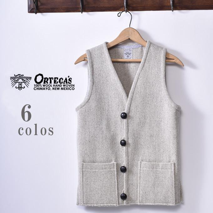 別注【Ortega's】オルテガSolid Square Vest ソリッドスクエアーベスト全6色