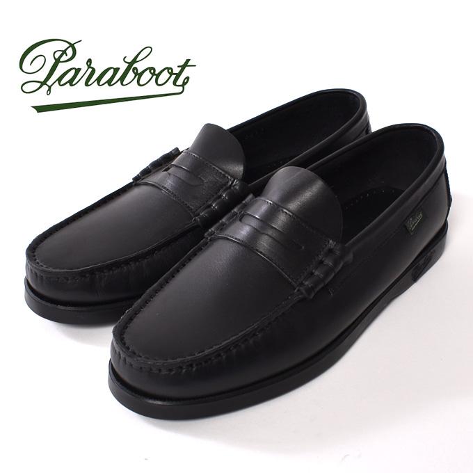 【Paraboot】パラブーツCORAUX(コロー)ローファーNOIRE-LIS NOIR(ブラック)z10x