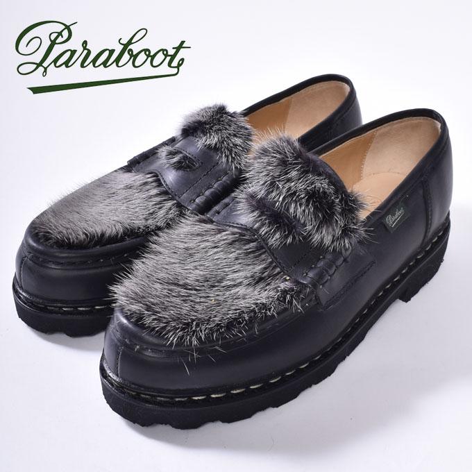 ★【Paraboot】パラブーツREIMS・ランスNOIR-LIS NOIR/VISON(ブラック ミンク)102985z10x