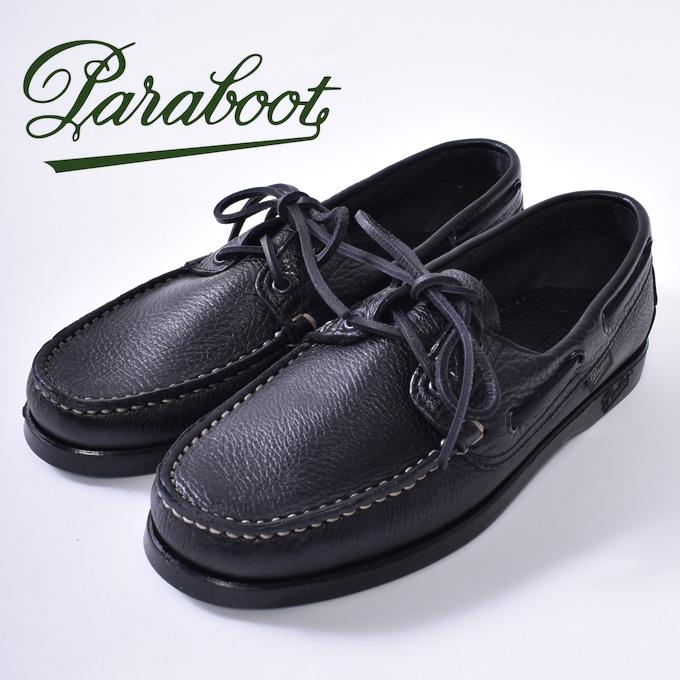 【Paraboot】パラブーツBARTH/MARINE バース デッキシューズ モカシンNOIRE-FOUL NOIR(ブラック/ブラック)z10x