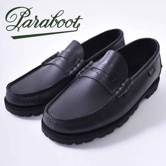 【Paraboot】パラブーツCORAUX/RAID コロー ローファーNOIRE-LIS NOIR ブラック/ブラックz10x