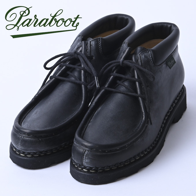 ☆【Paraboot】パラブーツMILLA/GRIFF(ミラ)NOIRE-LIS NOIR(ブラック)187412z10x