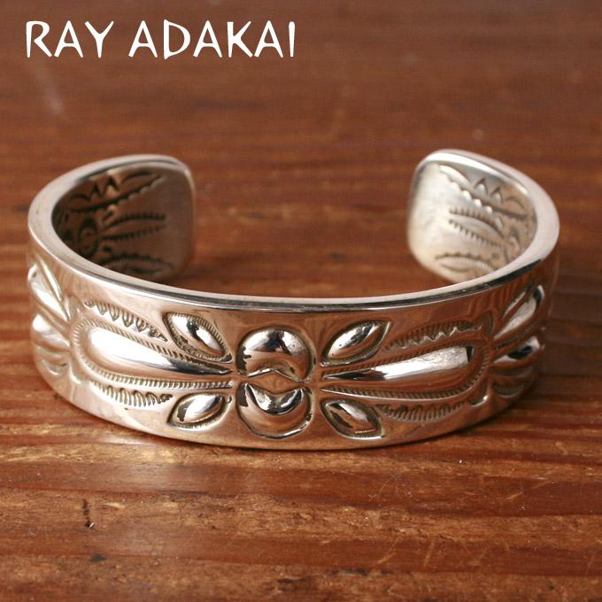 ナバホ族【RAY ADAKAI】レイアダカイDouble Stamp Bracelet 3/4inchダブルスタンプブレスレットSize Mz5x