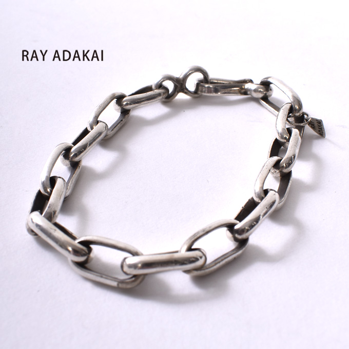 ナバホ族【RAY ADAKAI】レイアダカイHandmade chain Bracelet Heavyハンドメイドチェーン ブレスレット ヘビーz5x
