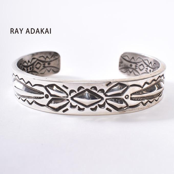 ナバホ族【RAY ADAKAI】レイアダカイDouble Stamp Bracelet 1/2inchダブルスタンプブレスレット 1/2インチSize M