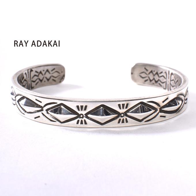 ナバホ族【RAY ADAKAI】レイアダカイDouble Stamp Bracelet 1/4inchダブルスタンプブレスレット 1/4インチSize Mz5x