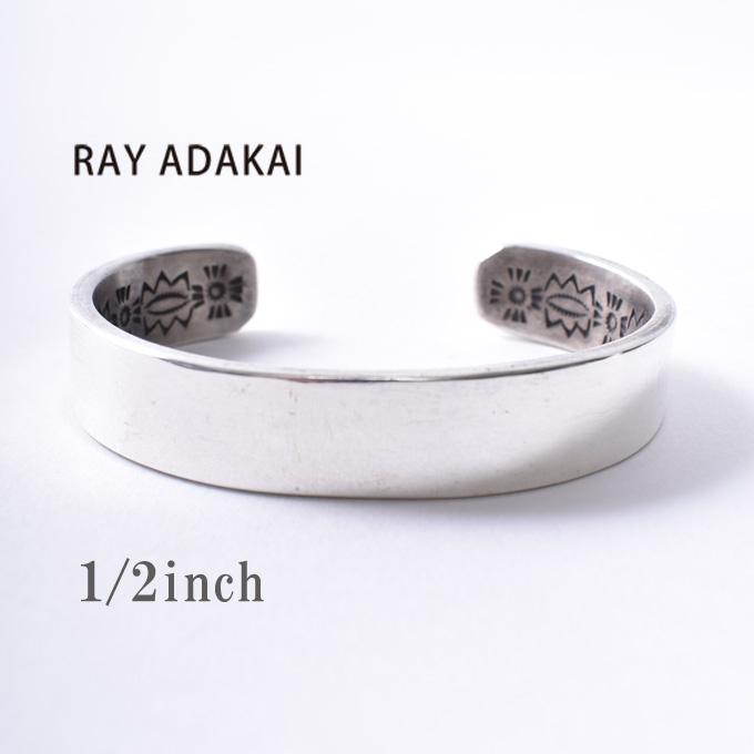 ナバホ族【RAY ADAKAI】レイアダカイDouble Stamp Bracelet 1/2inch Planeダブルスタンプブレスレット 1/2インチ プレーンSize Mz5x