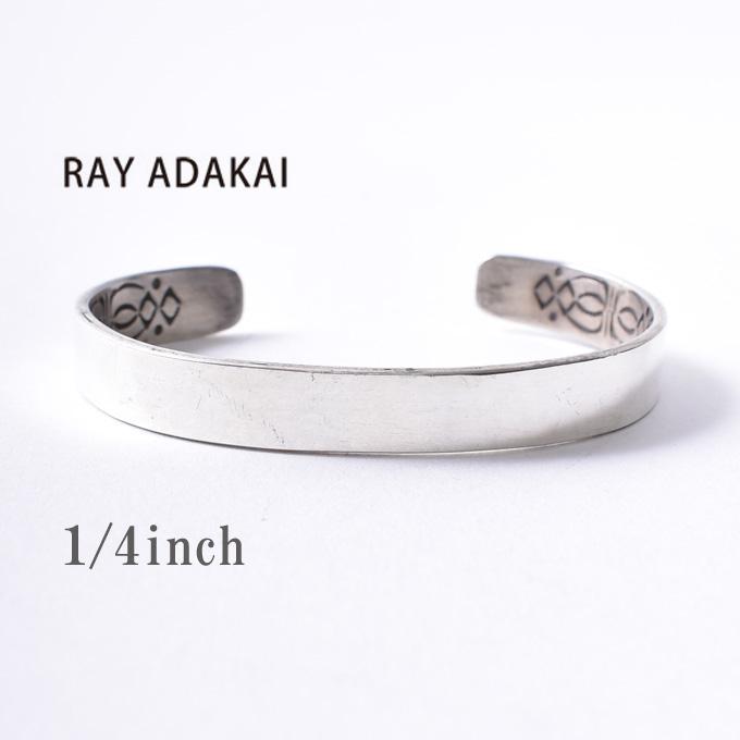 ナバホ族【RAY ADAKAI】レイアダカイDouble Stamp Bracelet 1/4inch Planeダブルスタンプブレスレット 1/4インチ プレーンSize Mz5x