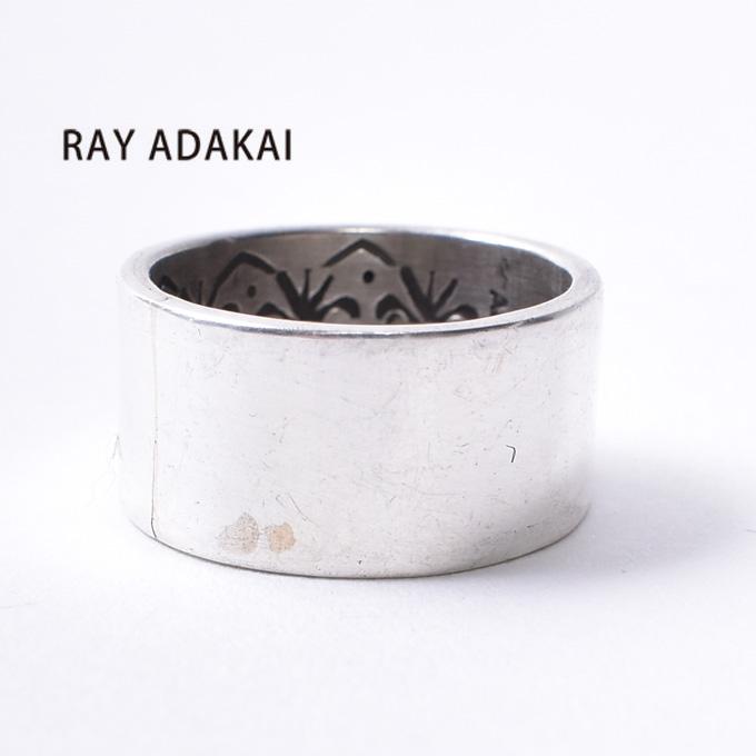 ナバホ族【RAY ADAKAI】レイアダカイDouble Stamp Ring Planeダブルスタンプリング プレーンSize M(19号)z5x