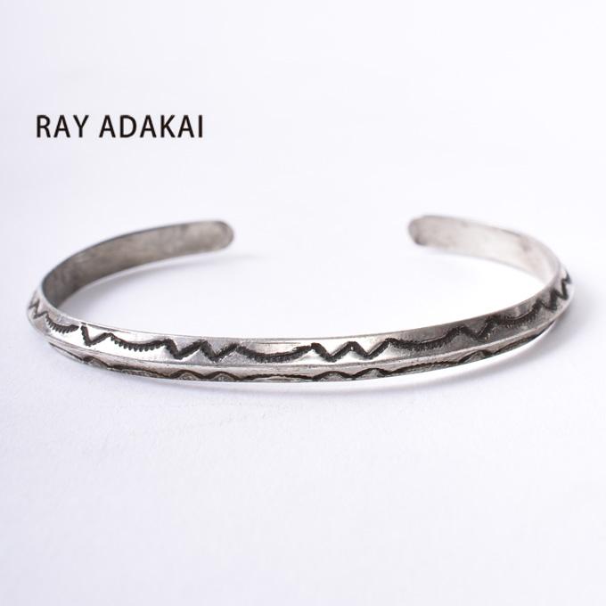 ナバホ族【RAY ADAKAI】レイアダカイ Triangle Bracelet Narrow トライアングルブレスレット サイズM z5x