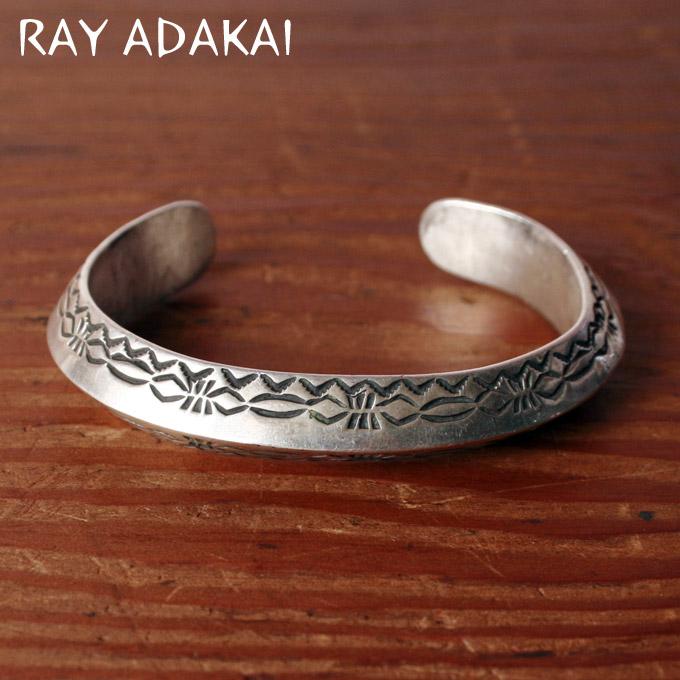 ナバホ族【RAY ADAKAI】レイアダカイTriangle Bracelet Heavyトライアングルブレスレット ヘビーサイズM z5x