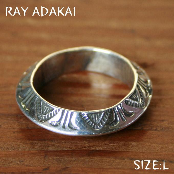 ナバホ族【RAY ADAKAI】レイアダカイTriangle Ring Straight トライアングルリング ストレートSize L(21号)z5x