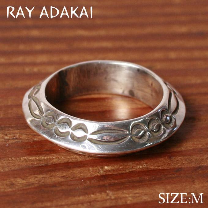 ナバホ族【RAY ADAKAI】レイアダカイTriangle Ring Straight トライアングルリング ストレートSize M(19号)z5x