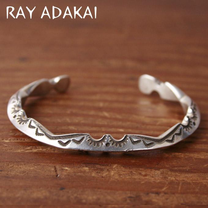 ナバホ族【RAY ADAKAI】レイアダカイ Zigzag Bracelet ジグザグブレスレット サイズM z5x