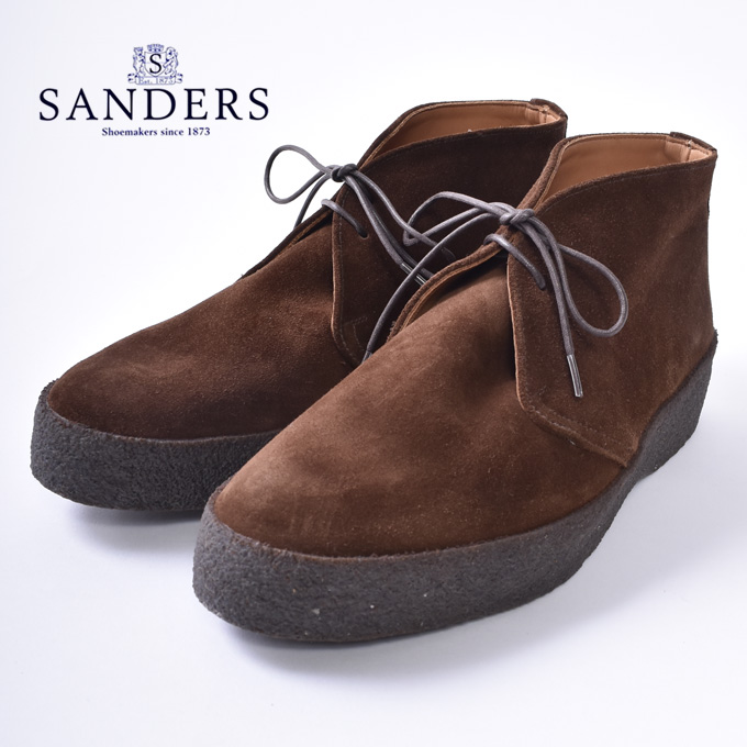 【SANDERS】サンダース6480 HI TOP CHUKKA / PLAYBOY CHUKKA BOOTSハイトップ チャッカブーツ MAD GUARD RubberPOLO SNUFF SUEDE ポロスナッフスウェードz10x