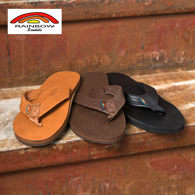 Rainbow Sandals Premier Leather Sandal Premium Single Layer Beach 3 Colors