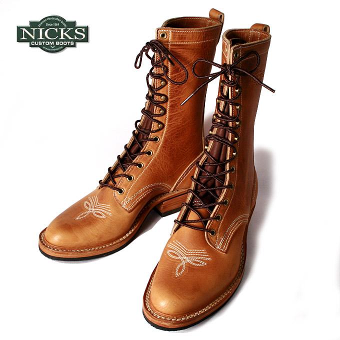 【NICKS BOOTS】ニックスブーツWelted packer 10inch ウェルトパッカー 10インチイングリッシュタンレザー《S-20》