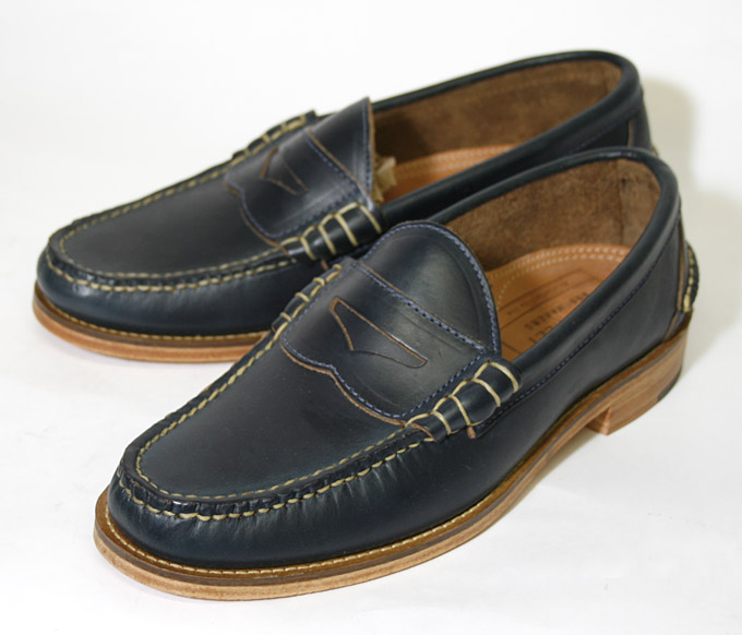 90fb7f0871f Oak Street boots PENNY LOAFER BROWN penny loafers Navy USA manufacturer