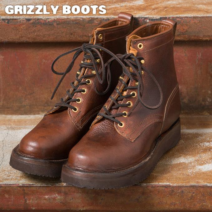 【GRIZZLY BOOTS】グリズリーブーツBLACK BEARブラックベアー(ワークブーツ)z2x