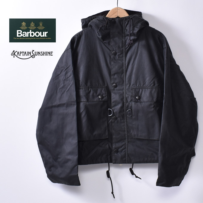 【KAPTAIN SUNSHINE × Barbour】キャプテンサンシャイン × バブアーField Short Hoody JacketフィールドショートフーディージャケットSage Green セージグリーン