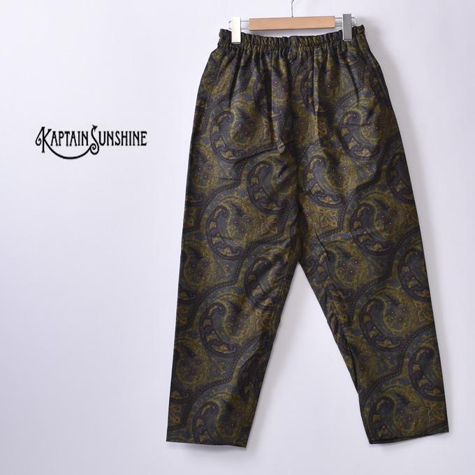【KAPTAIN SUNSHINE】キャプテンサンシャインAthletic Easy Pants アスレチックイージーパンツPAISLEY ペイズリー