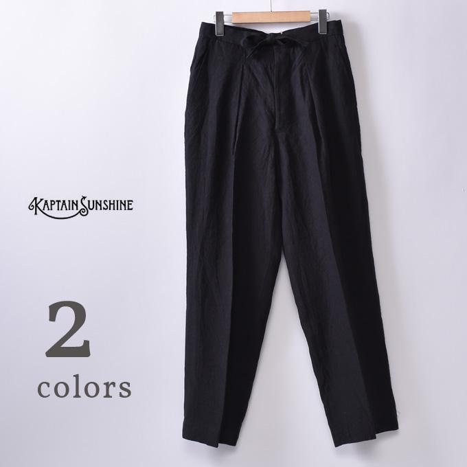 【KAPTAIN SUNSHINE】キャプテンサンシャインRiviera Trousers リビエラトラウザー全2色(INK BLACK・NAVY KHAKI PLAID)