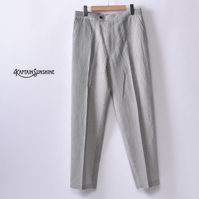 【KAPTAIN SUNSHINE】キャプテンサンシャインTraveller Trousers トラベラートラウザーGREY PANEL PLAID グレーパネルプレイド