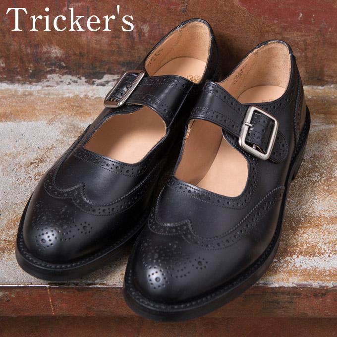 【Tricker's】トリッカーズM7596 Mary Jane メリージェーンBLACK(ブラック)