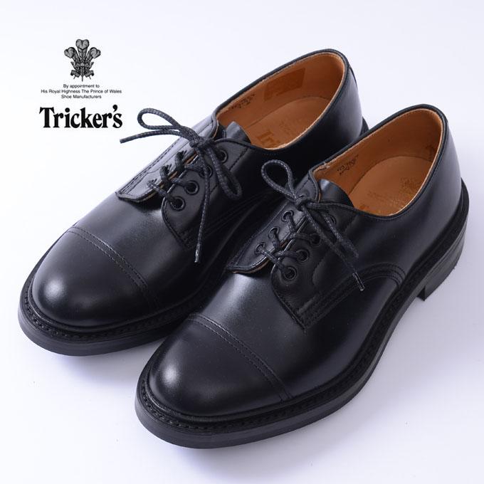 【Tricker's】トリッカーズM7195 Cap Toe Country Shoesキャップトゥカントリーシューズブラック