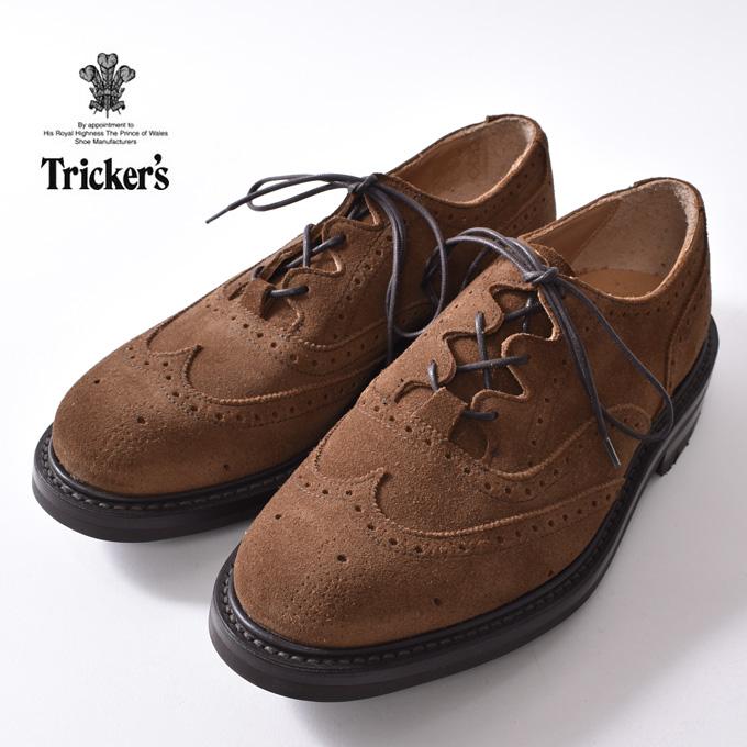 正規品Made in England【Tricker's】トリッカーズM7533 Thistle Gillie Country ShoesシィスルギリーカントリーシューズSNUFF ブラウンスウェード