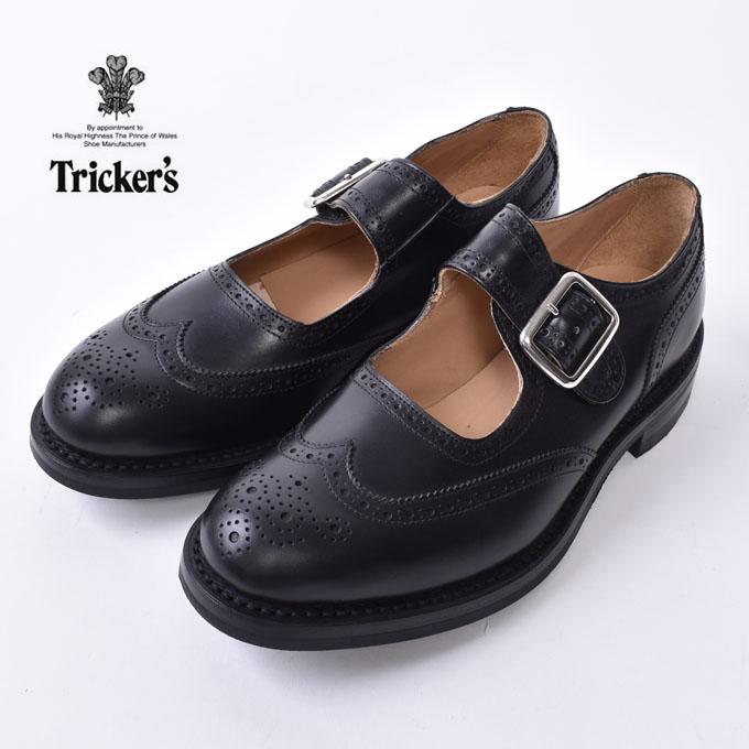 国内正規品 Made in おしゃれ ENGLAND Tricker's トリッカーズM7596 Mary メリージェーンBLACK Jane 《S-30》 好評 ブラック