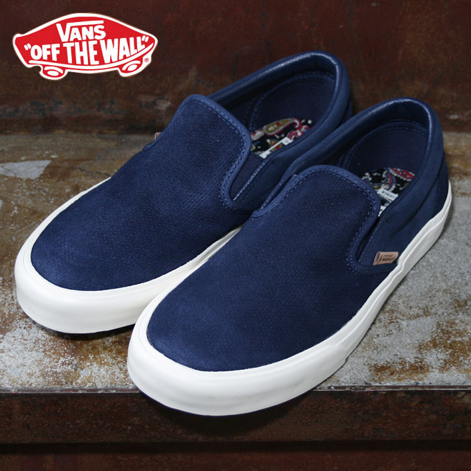 vans slip on navy